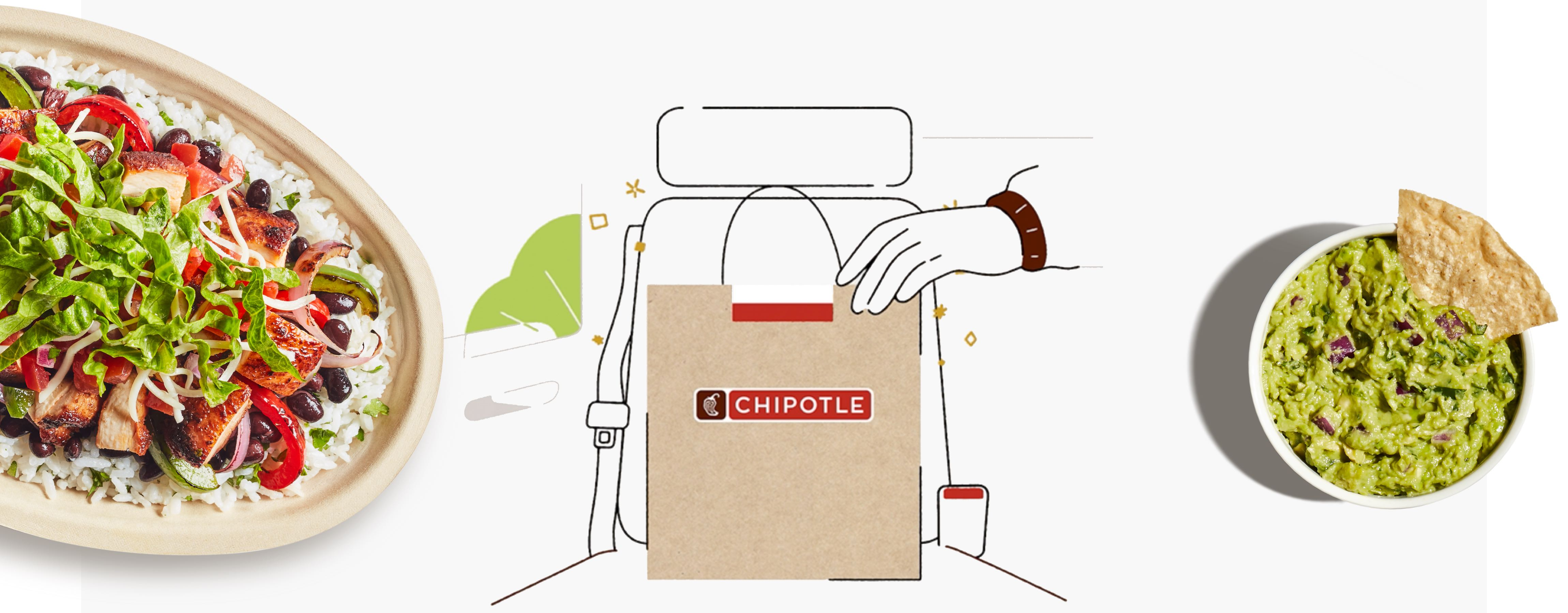 Chipotle Carside Pickup now available in the app. We'll bring it to your car for free.